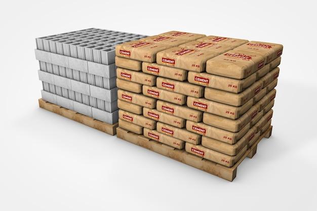 Concrete coke pallet with cement bags