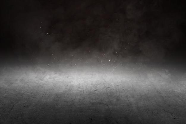 Бетонный пол с дымом и светом