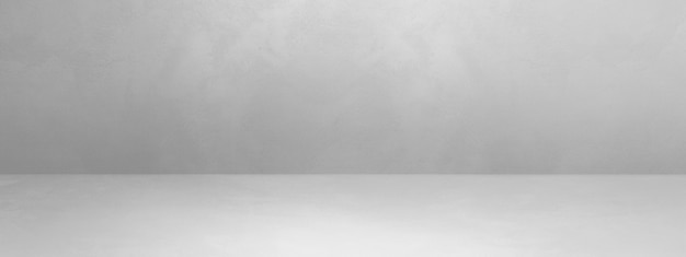 Бетонный интерьер фона баннера. пустая шаблонная сцена