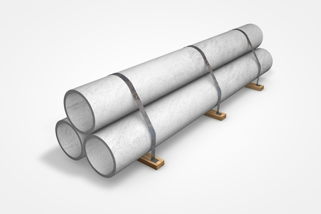 Concrete tubes for construction on wood