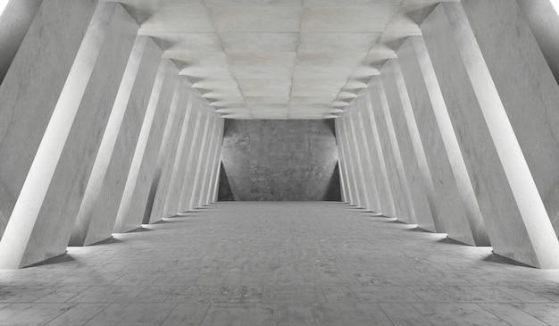 Concrete underground showroom garage
