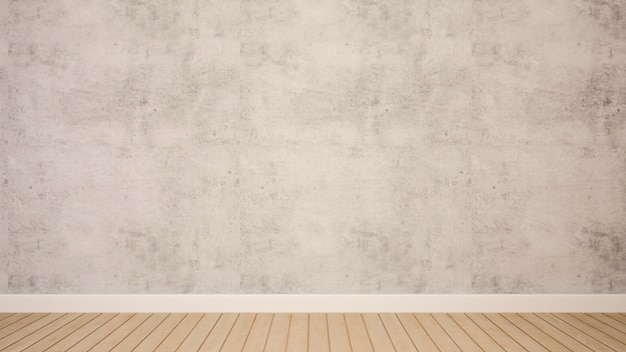 アートワーク -  3 dレンダリングのための空の部屋でコンクリートの壁