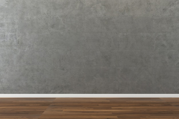 Concrete wall texture background wood floor