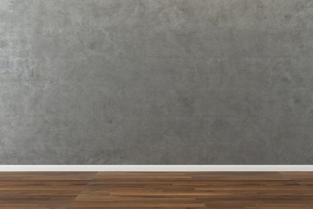 콘크리트 벽 질감 배경 나무 바닥