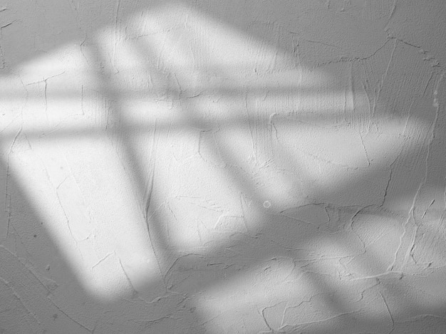 Concrete wall texture with shadow from the window
