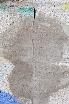 Concrete wall with paint and crack