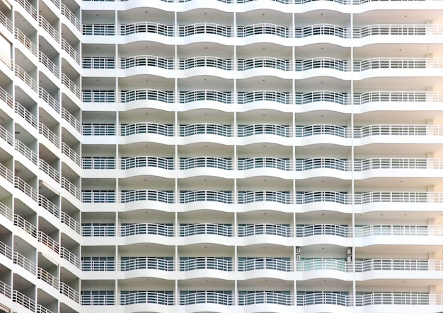 Condominium building with morning light.sea view condominium in pattaya city jormtain