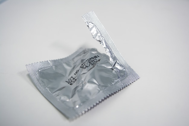Condoms after use