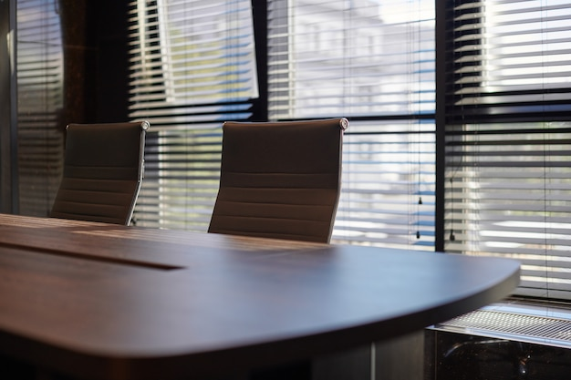 Conference room in office.