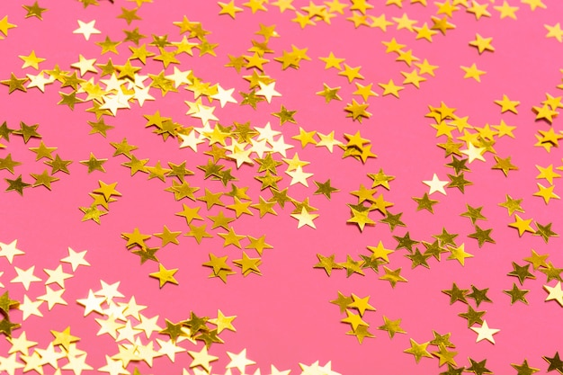 Confetti with stars background