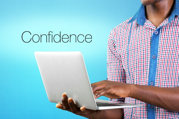 Confidence concept word