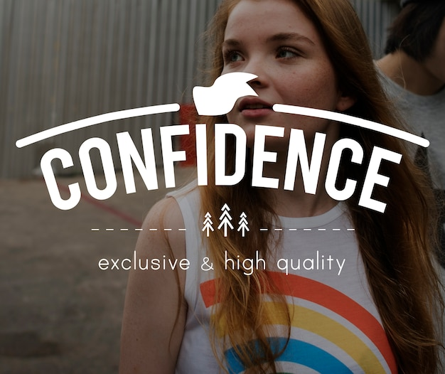 Confidence vintage vector graphic concept