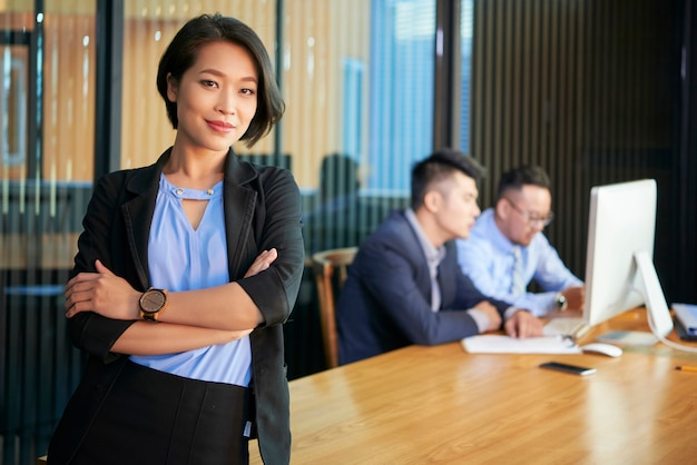 Confident asian businesswoman portrait