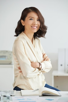 Confident asian entrepreneur