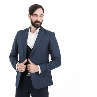 Confident businessman in a business suit