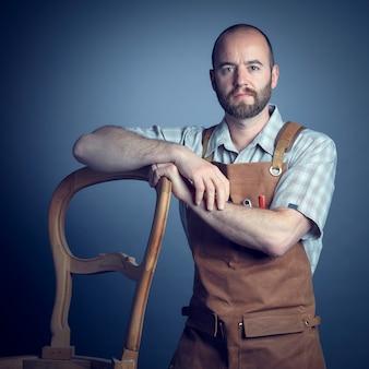 Confident carpenter portrait