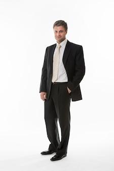 비즈니스 정장에 상사 관리자의 자신감 점원 성공적인 모습