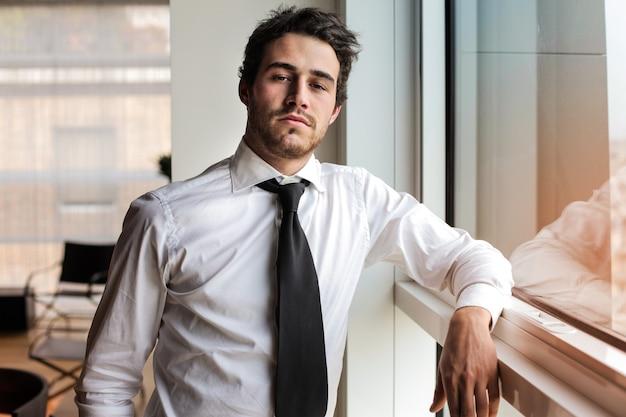 Confident handsome businessman