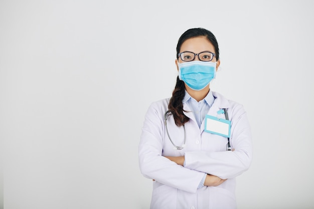 Confident serious general practitioner