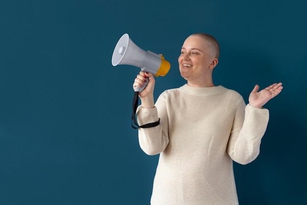 乳がんと闘う自信のある女性