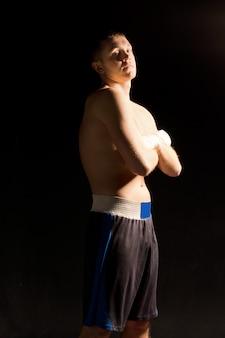 Confident young boxer with an attitude