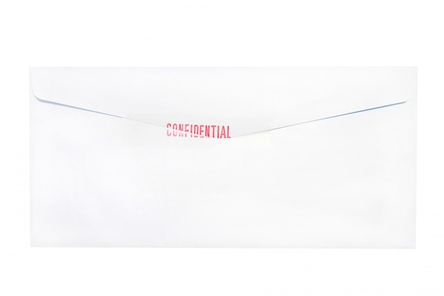 Confidential envelope letter isolated