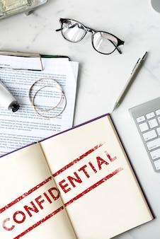 Конфиденциальная личная конфиденциальность, ограниченная графическая концепция