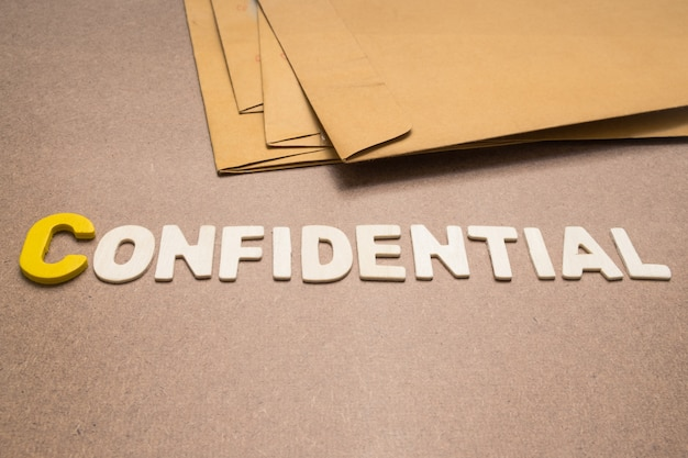 Confidential wording
