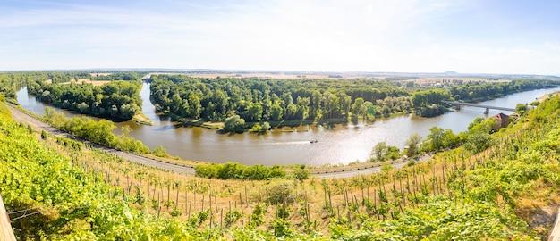 チェコ共和国におけるヴルタヴァ川とエルベ川の合流点