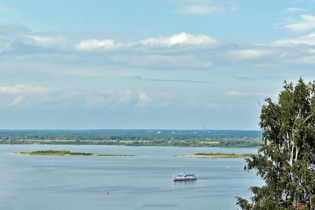 Confluence of rivers of oka and volga