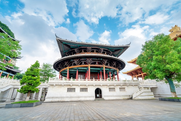 The confucian temple was built in 815 ad in liuzhou, china.