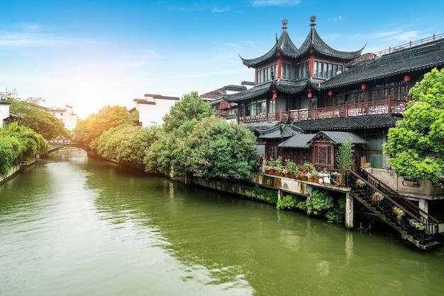 Confucius temple scenic spot in nanjing china