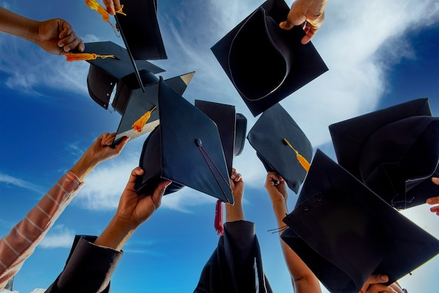 Congratulatory conferment and award of the diploma with the graduates of the university.