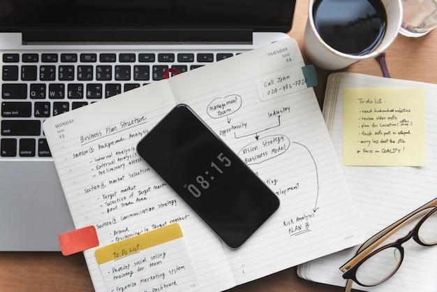 연결 디지털 장치 작업 개념