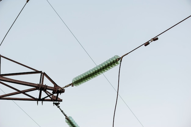 The connection of high-voltage wires