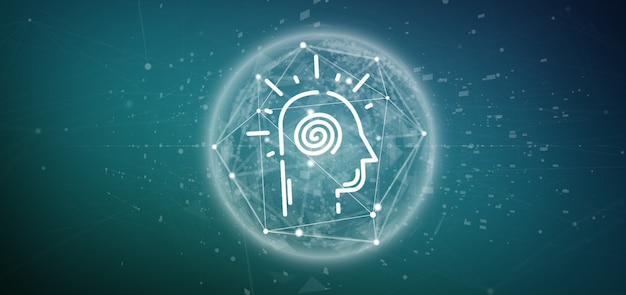 Conscious head icon