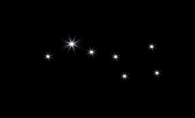 Constellation big dipper in black space