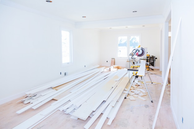 Construction building industry new home construction interior drywall tape.