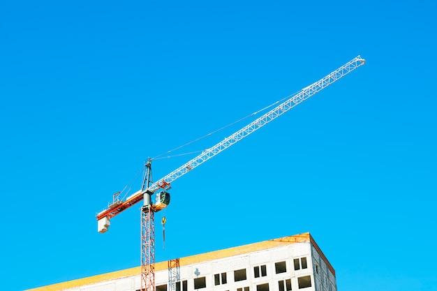 建設用クレーンの背景hd