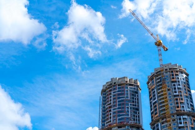 Construction crane at a construction site.