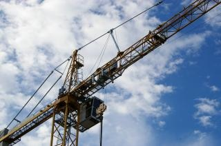 Construction crane, heavy