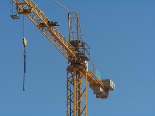 Construction crane, work