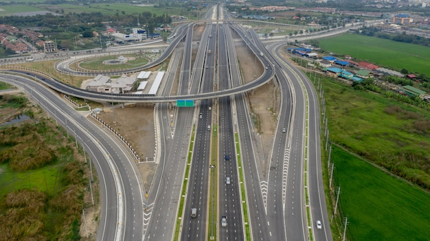 Construction expressway industry connections for transportation and logistics business