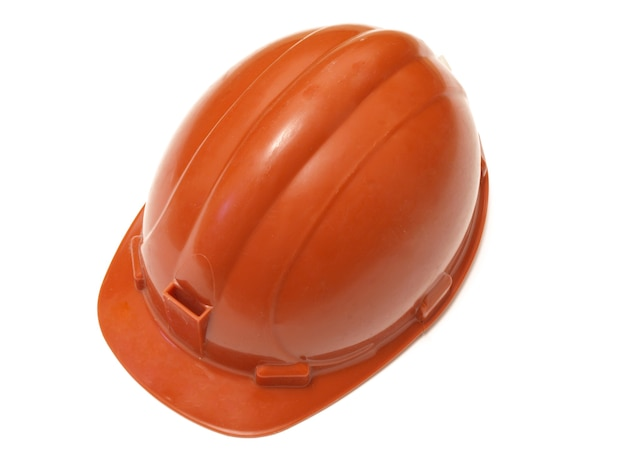 白い表面の建設用ヘルメット