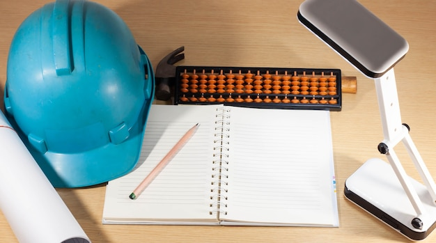 Construction helmet, working anytime, anywhere