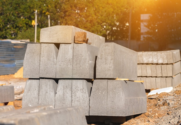 Construction materials, building material close-up background