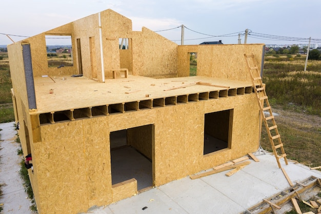 Construction of new and modern modular house