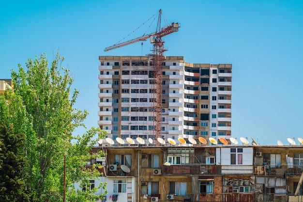 Строительство нового многоэтажного жилого дома