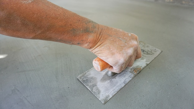Construction - plasterer concrete