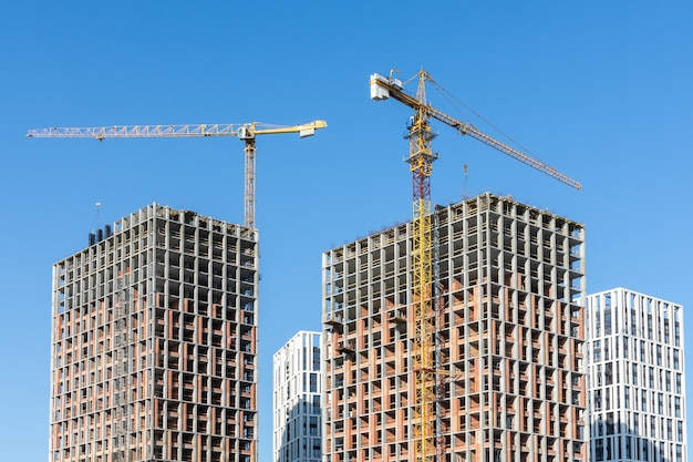 Construction of residential buildings, new multi-storey houses in kiev, the capital of ukraine